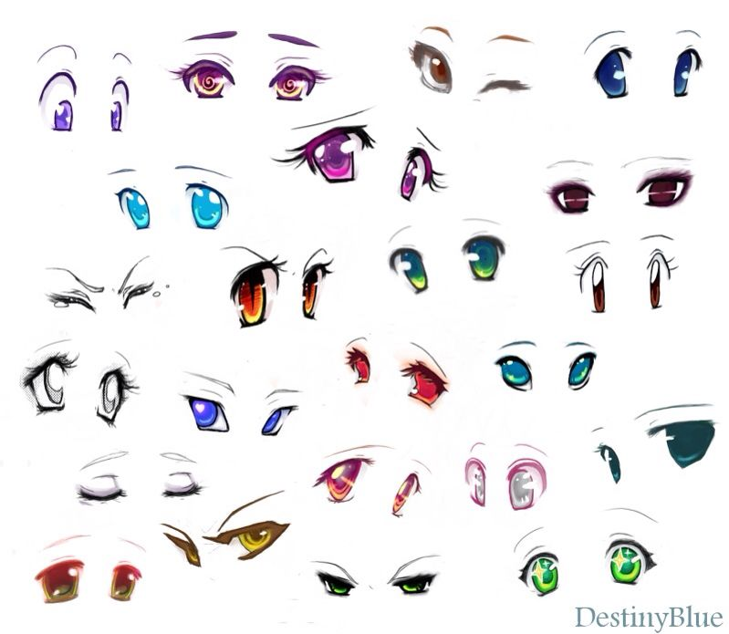 How 2 Beautiful Anime Eyes Color Anime Eyes How To Draw Anime Eyes Realistic Drawings