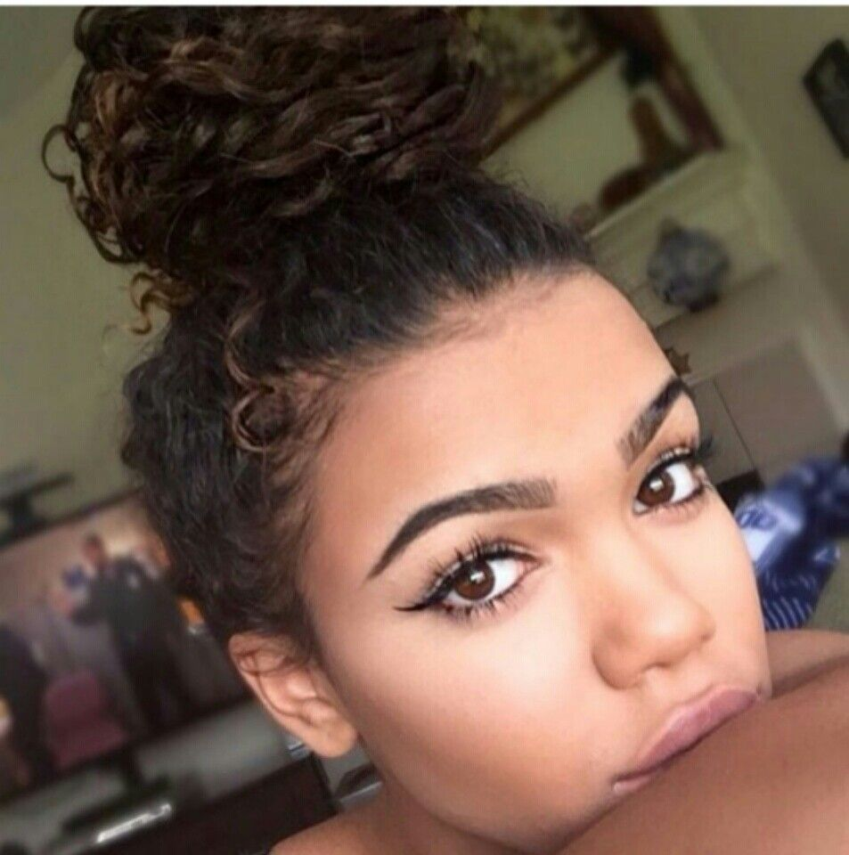 Dont Use Or Save Copyrighted Curly Bun Hairstyles Curly Hair