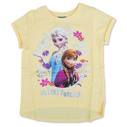 8410e4bb53f Disney Frost Frozen Anna Elsa Glimmer T-shirt Lys Gul | Vi <3 Frozen ...