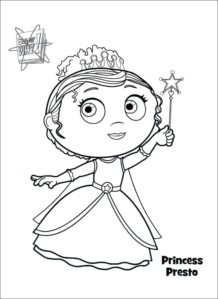 Super Why Coloring Pages Princess coloring pages, Super