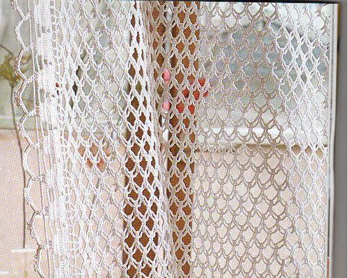 Crochet Curtain Pattern ~ free diagram | Häkeln - Vorhang ...
