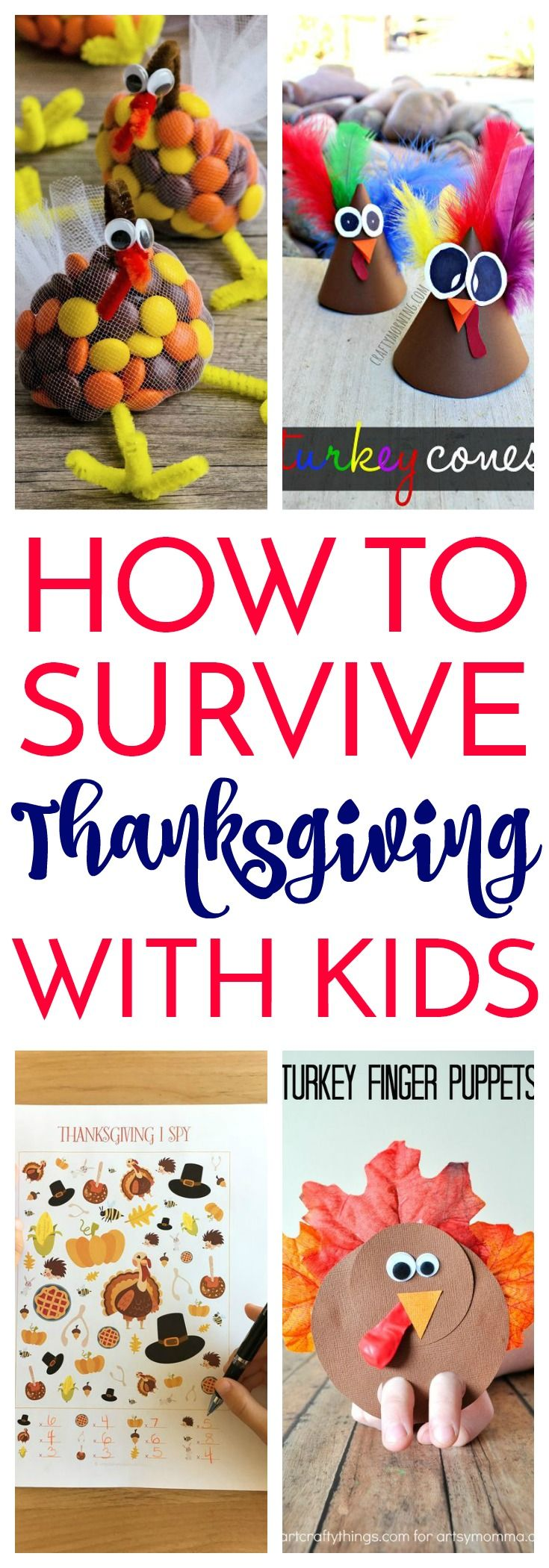 10 Kids Crafts for Thanksgiving | Diy projects for kids ...