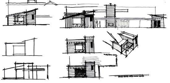 Architecture Process Sketching Villa Park Sketches And