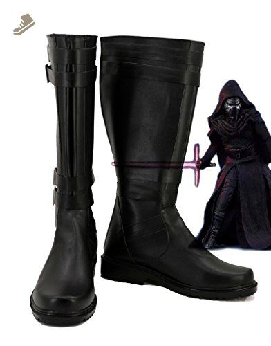 Star Wars: The Force Awakens Movie Kylo Ren Cosplay Shoes Sith Cosplay Boots New Style More Details