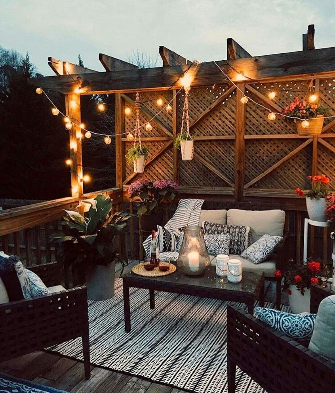 outdoor deck furniture ideas pallet home. I Would Love To Wind Down After Work On This Cozy Outdoor Patio : CozyPlaces Deck Furniture Ideas Pallet Home O