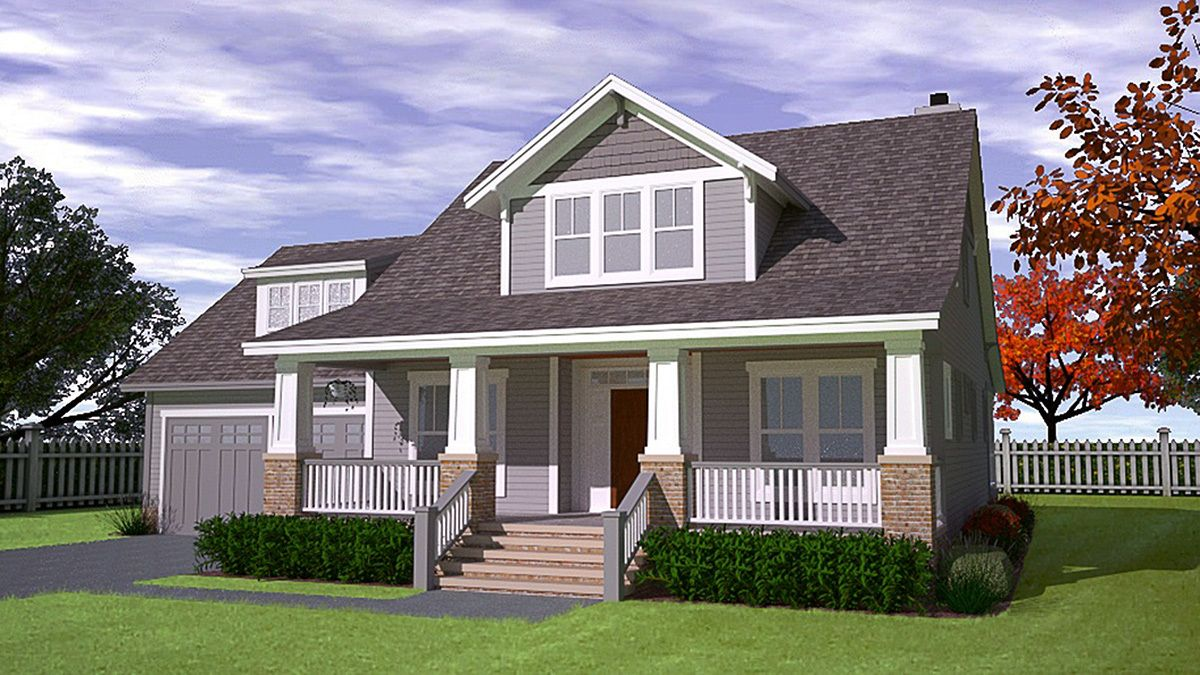 Plan 15045nc Cottage House Plan With Private Master Bedroom Cottage House Plans Craftsman House Plans Cottage Homes