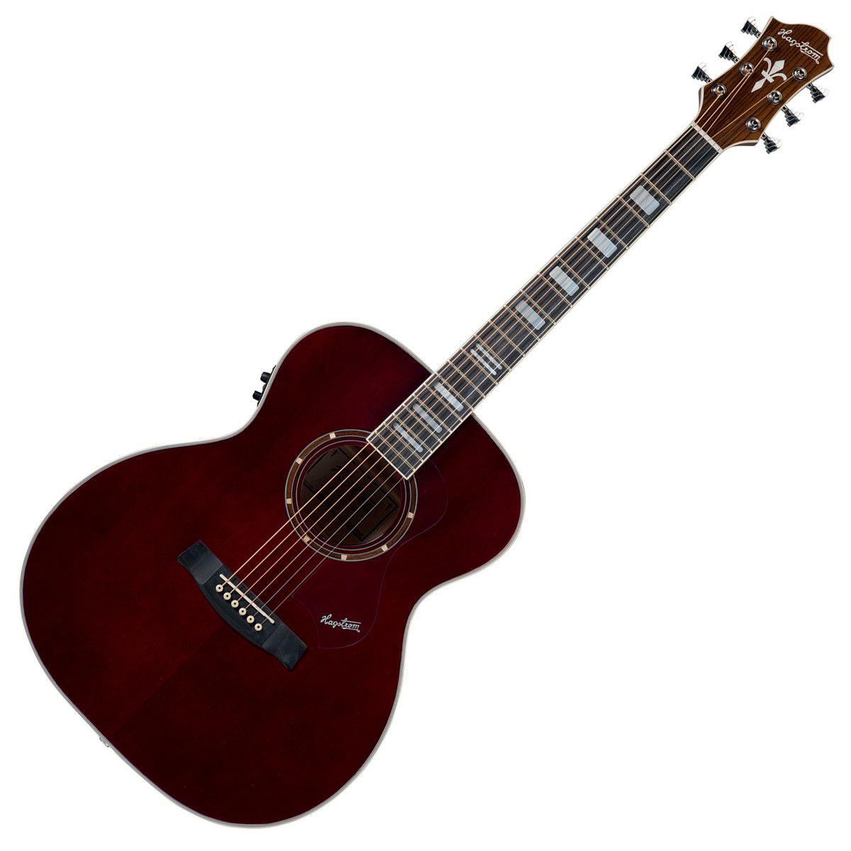 Hagstrom Siljan Custom Guitar, Vogelkirsche Flamme