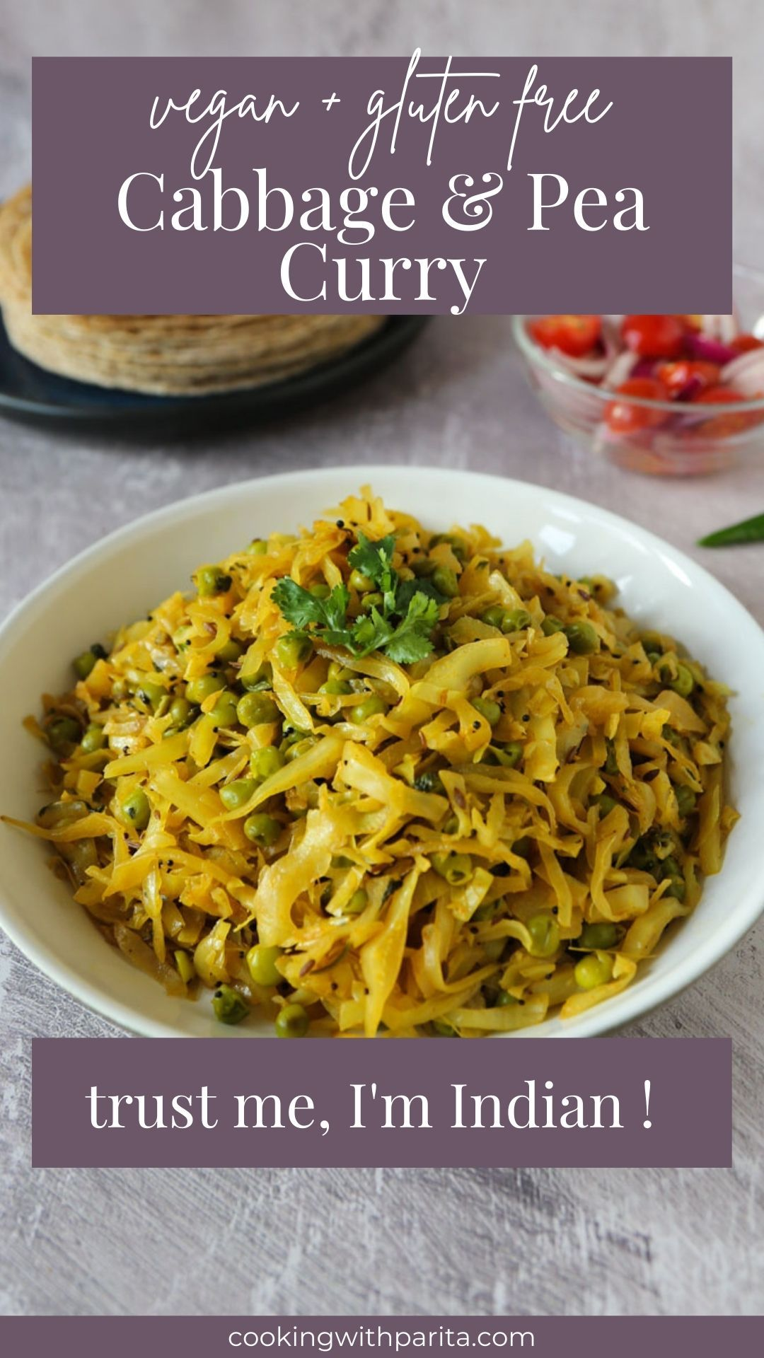 Cabbage and Pea Indian Curry - Plant Based Vegan R