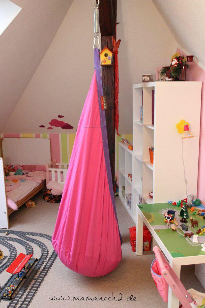 Kinderzimmer Ideen 2 Schaukeln und Klettern auch im