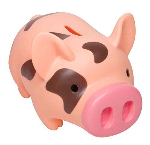 Money Bank Piglet Pink Brown Material Non Breakable Plastic Does Not Contain Harmful Phthalates Poly Bagged Includes Banded Pink Brown Toy Bank Money Bank