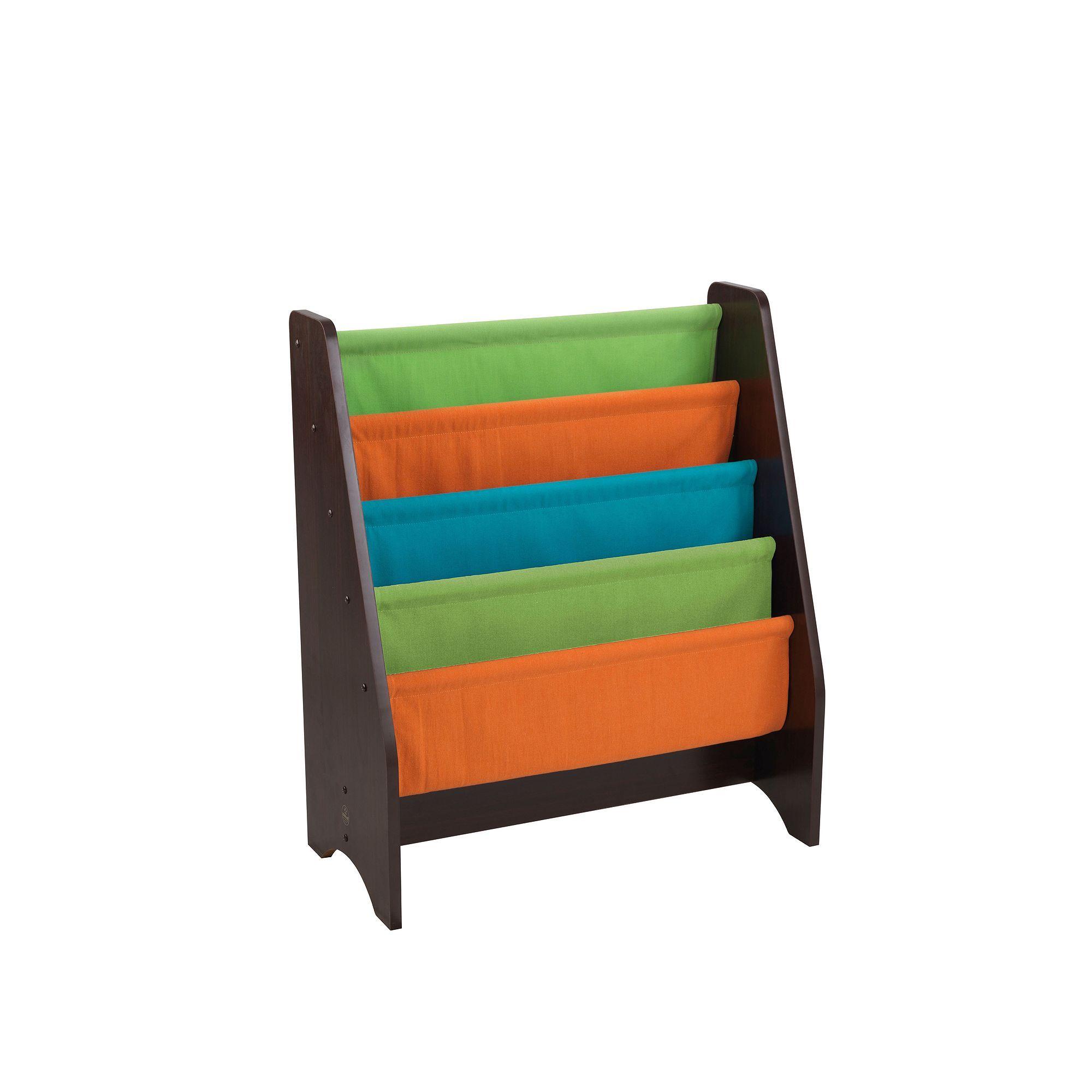 KidKraft White Sling Bookshelf Multicolor