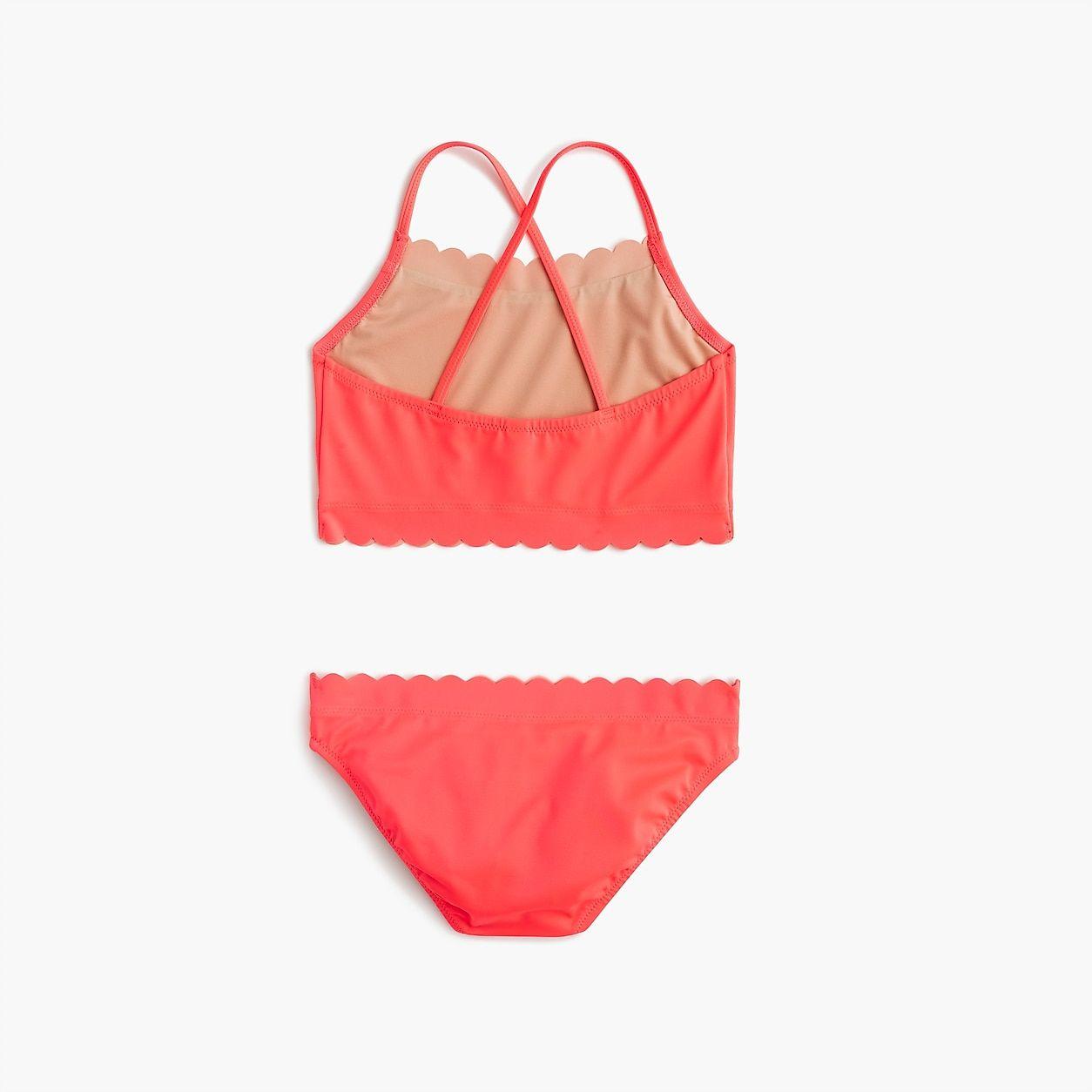 6199e1f82cb29 crewcuts Scalloped Cropped Tankini Set | Products | Trendy swimwear ...