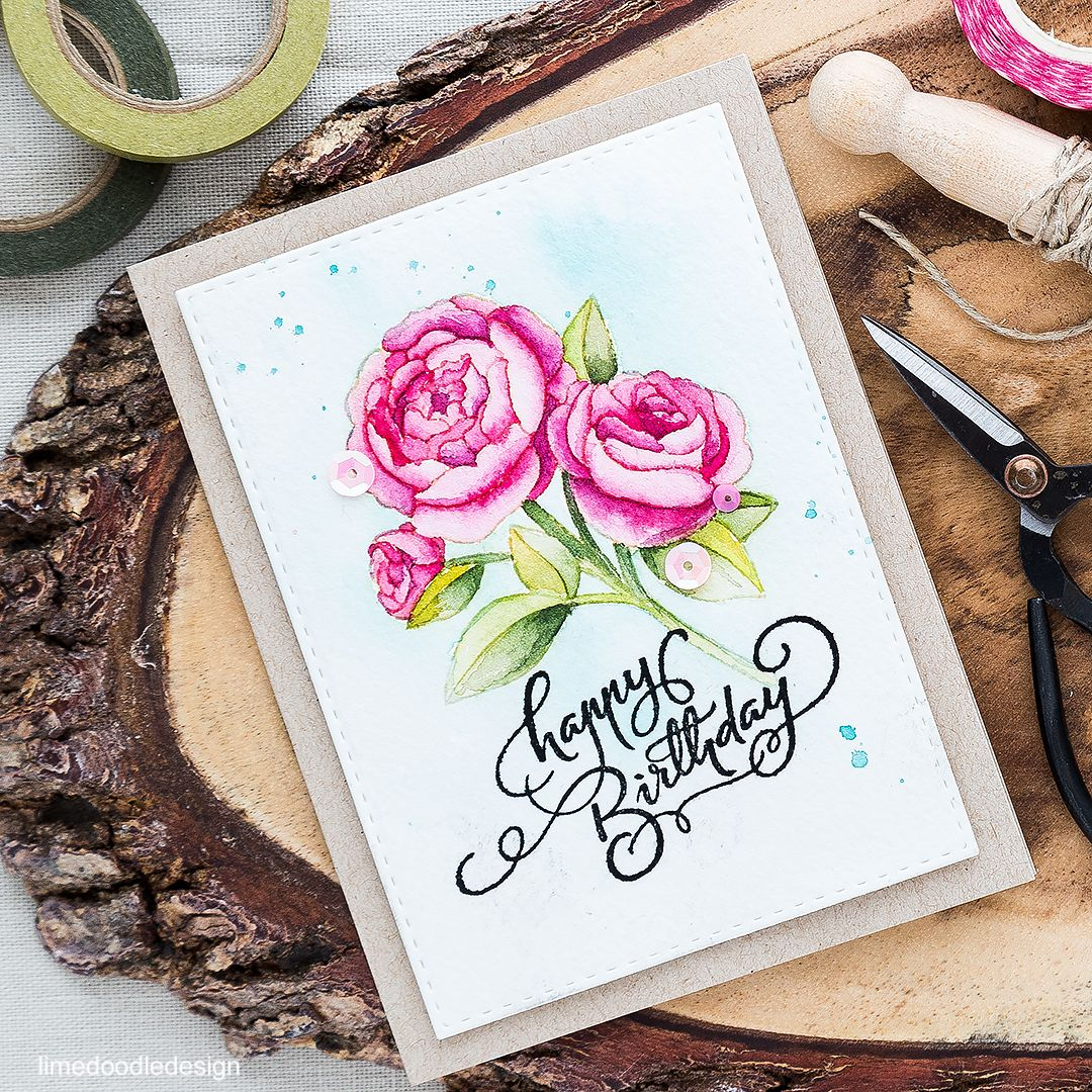No Line Watercoloring | Special birthday cards, Special birthday ...