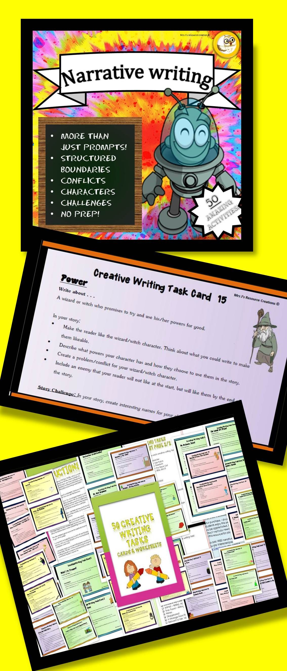 Narrative Writing Prompts Activity Worksheets And Task