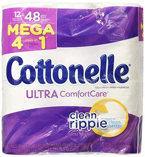 Cottonelle Ultra Comfort Care Mega Roll Toilet Paper, 12