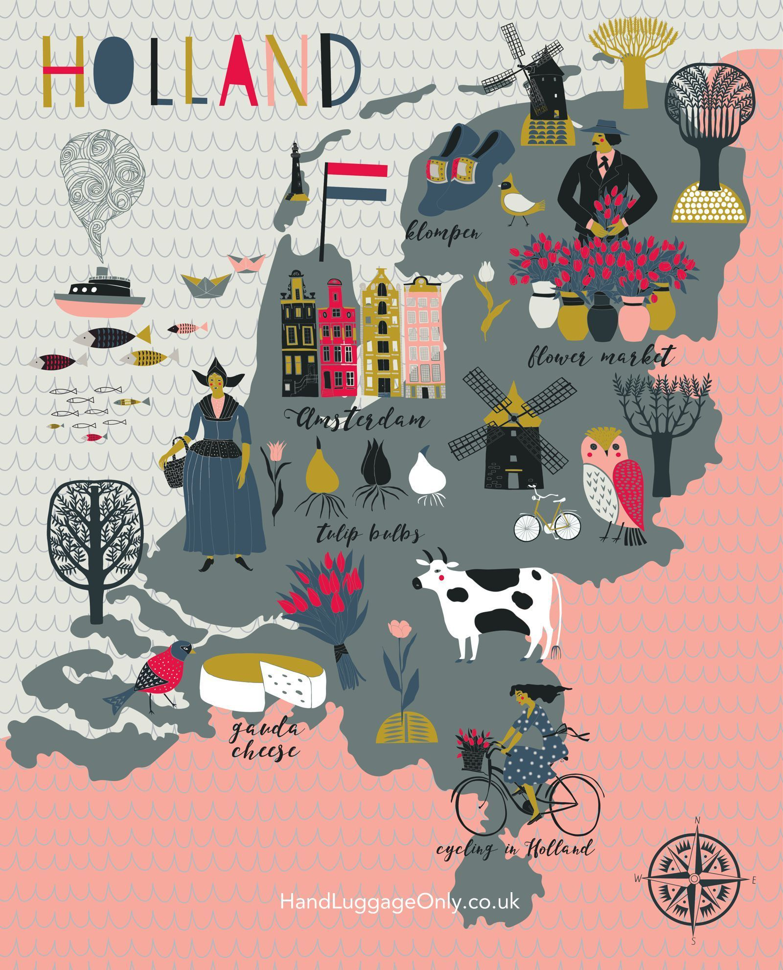 12 Dutch Experiences Every Visitor Should Have In Amsterdam Holland Map Netherlands Map Cartoon Map