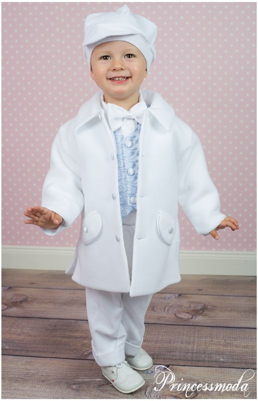 WILLI - Edler Taufanzug in weißem Taufmantel ...
