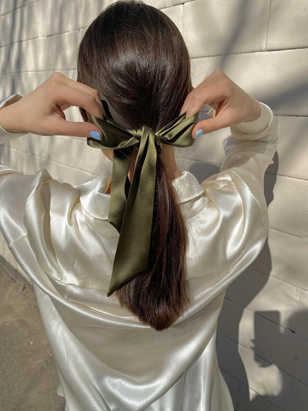 Silk Ribbon Long Silk Hair Ribbon Hair Accessory Silk Hair Bow Etsy In 2020 Aesthetic Hair Scarf Hairstyles Hair Styles