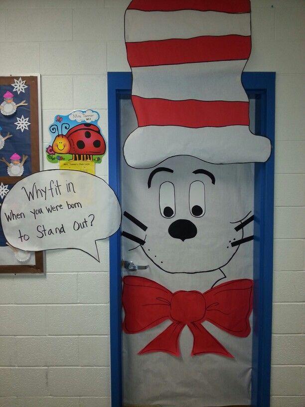 My Cat In The Hat Door Dr Seuss Classroom Dr Seuss Activities Classroom Wall Decor