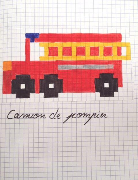 Pixel Camion De Pompiers Camion Pompier Pompier Et Pixel