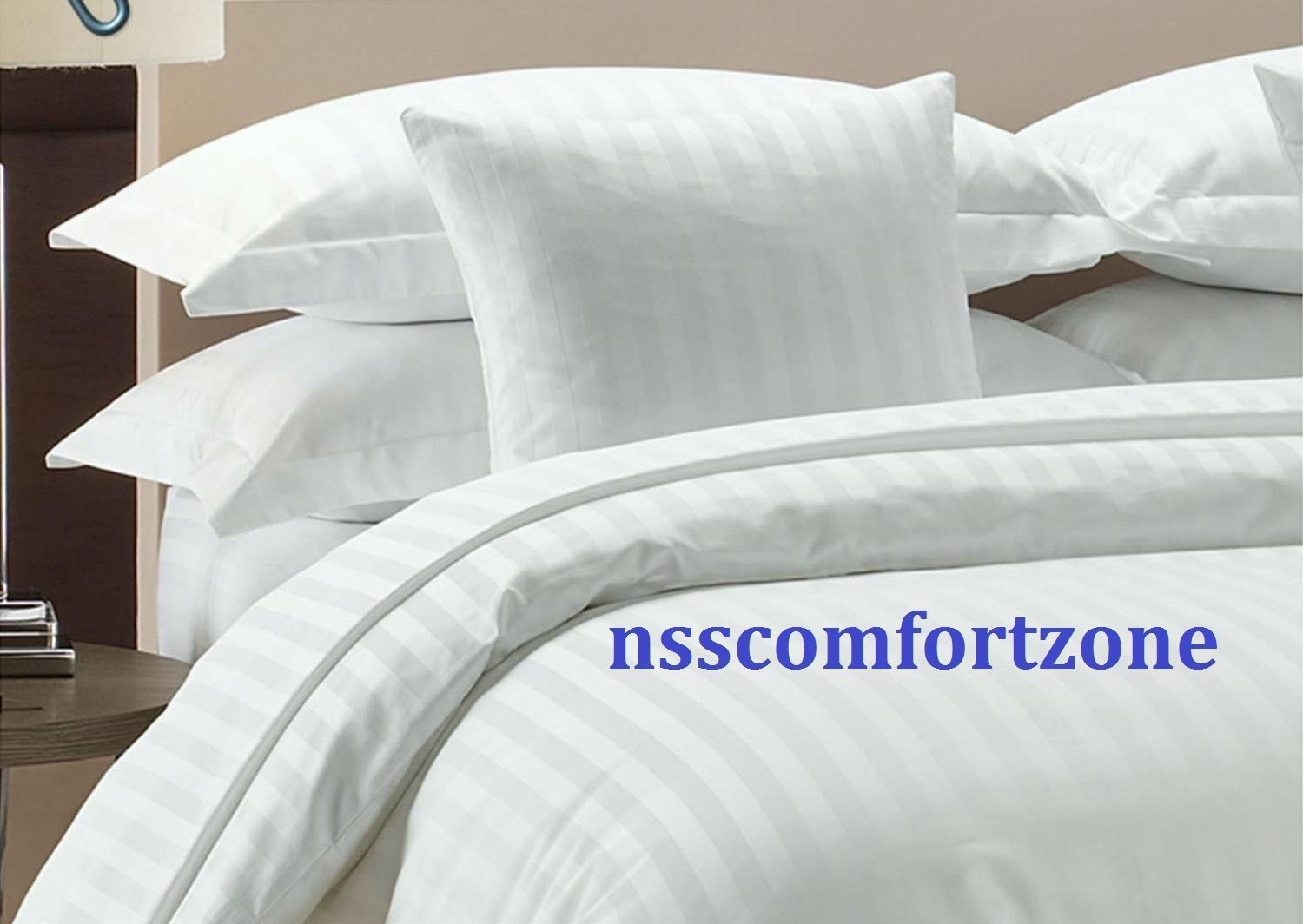 About white 1000tc egyptian cotton complete bedding collection sheet - Egyptian Cotton 800 1000 Tc White Solid Sheet Set Duvet Set Fitted Flat All Size Ebay
