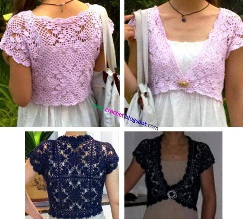 Bolero A Crochet Pitsi Pinterest Boleros Crochet Woman And
