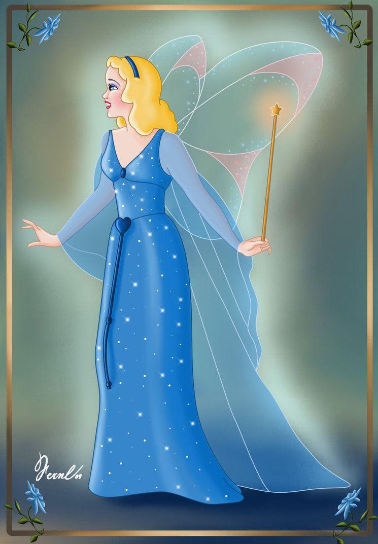 Blue Fairy Pinocchio 1940 Blue Fairy Disney Disney Art