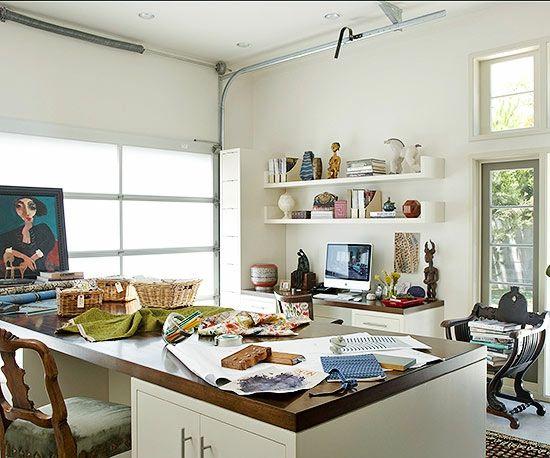 Garage Umbauen Arbeitszimmer Einrichten Möbel