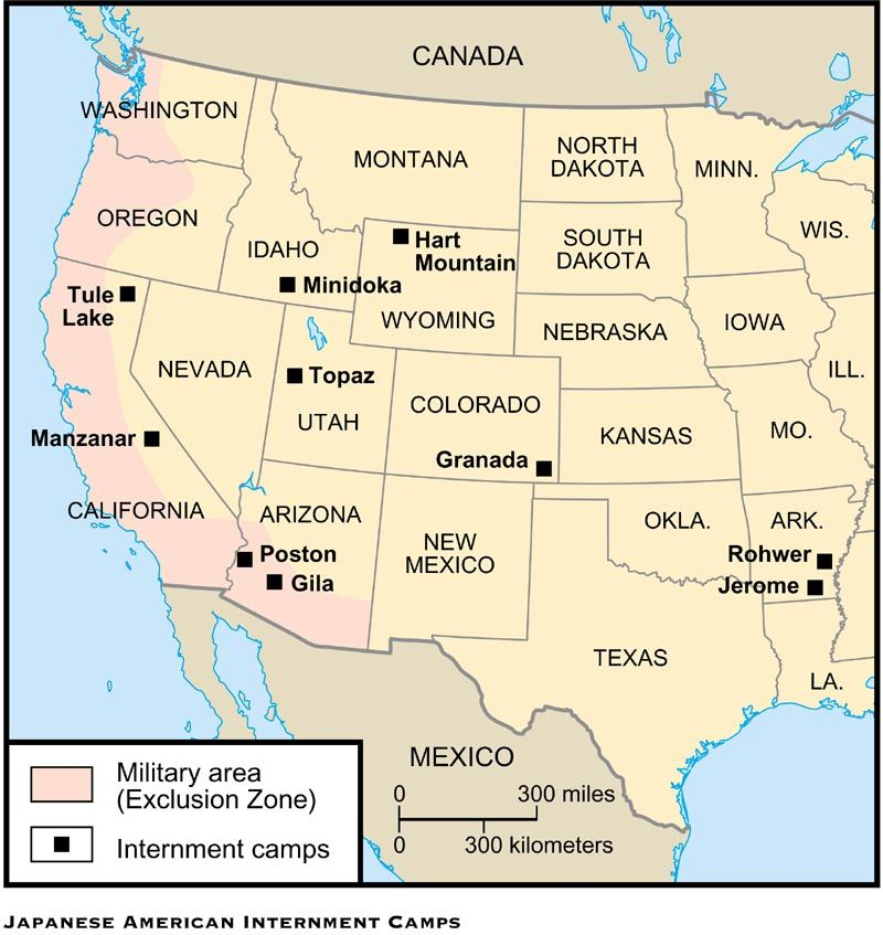 The Passing Of A True American Hero Internment Japanese - Map of italian internment camps in us