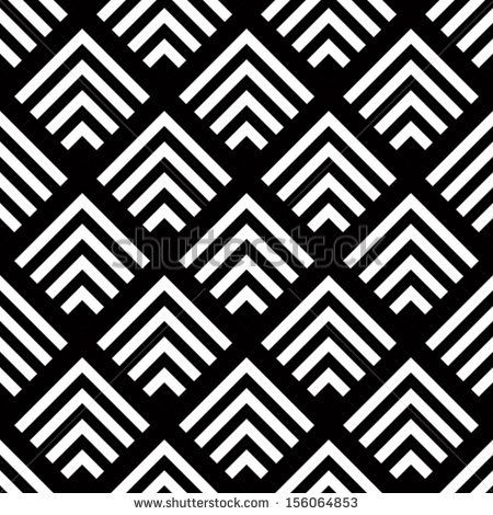 Seamless geometric vector background, simple black and ...