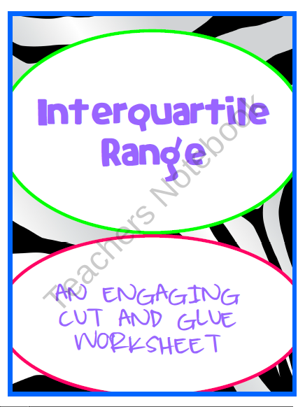 Interquartile Range Iqr Engaging Cut And Glue Worksheet