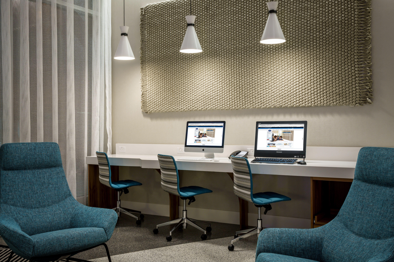 The Business Center At The Hampton Inn Santa Monica Designed By