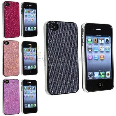 4 Bling Hard Case Cover Skin For iPhone 4S 4G 4th Gen USA Accessory Bundle Pack | eBay