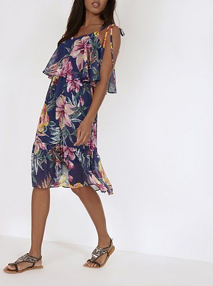 Floral Ruffle Layer Dress, read reviews and buy online at George at ASDA. Shop…