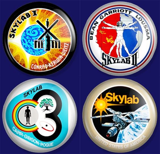 Mission Patches On Mission 4 To The International Space: Skylab 4 BUTTON SET NASA Mission Patch Button Pin Soyuz