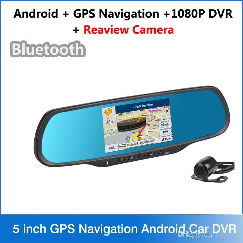 New 5 Inch GPS Navigation Android Car DVR FHD 1080P Camera Bluetooth WiFi FM G-Sensor Parking Car Dvrs Rearview Mirror Dash Cam Online with $136.13/Piece on Egomall's Store | DHgate.com