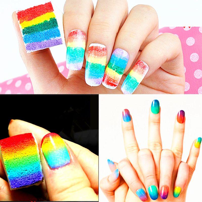 1pcs New Nail Art Sponge Manicure Makeup Accessory Nail