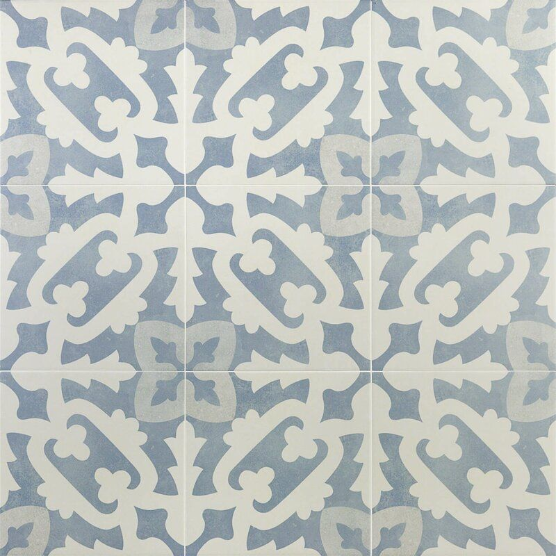Anabella 9 X 9 Porcelain Spanish Wall Floor Tile Porcelain Flooring Encaustic Tile Wall Tiles