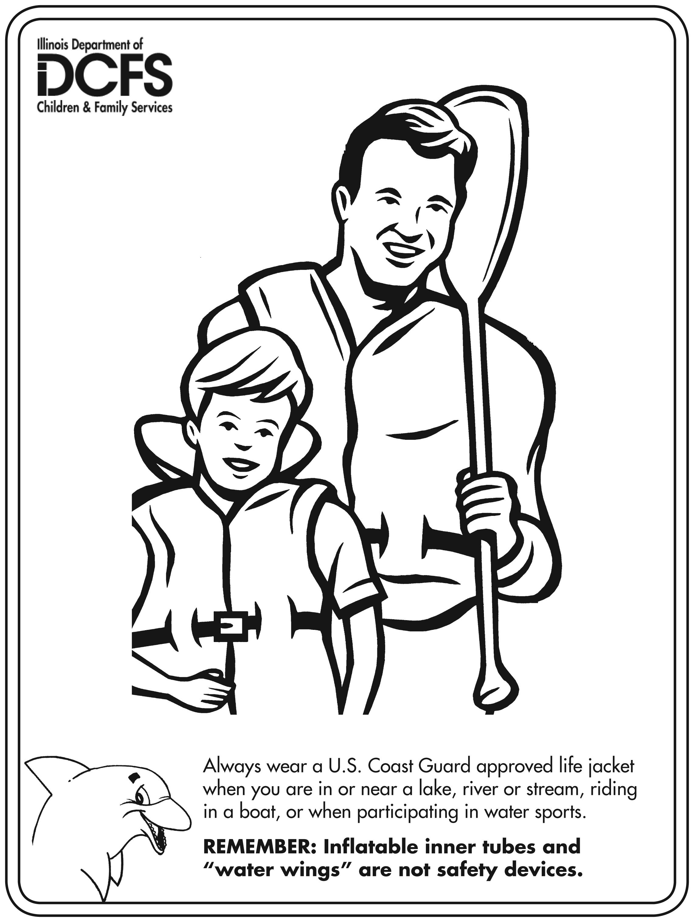 Life Jacket Drawing Coloring Pages Coloring Books Life Jacket