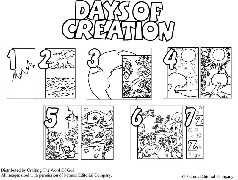 Days Of Creation (Coloring Pages) Coloring pages are a great way to ...