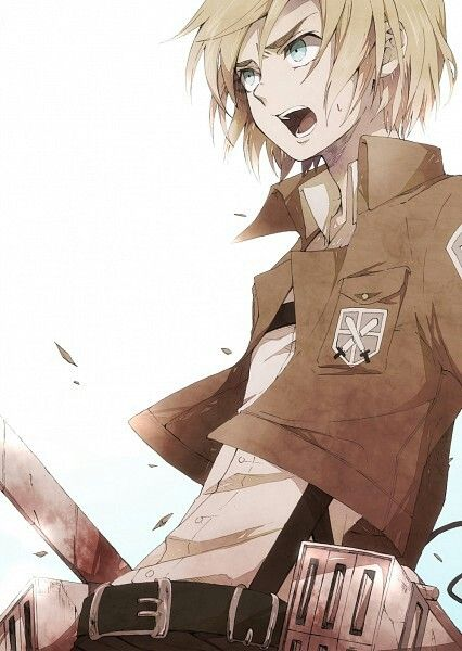 Armin (Attack on titan) | *suddenly attracted to this picture* ... X'D GAHHHH he looks so cute!