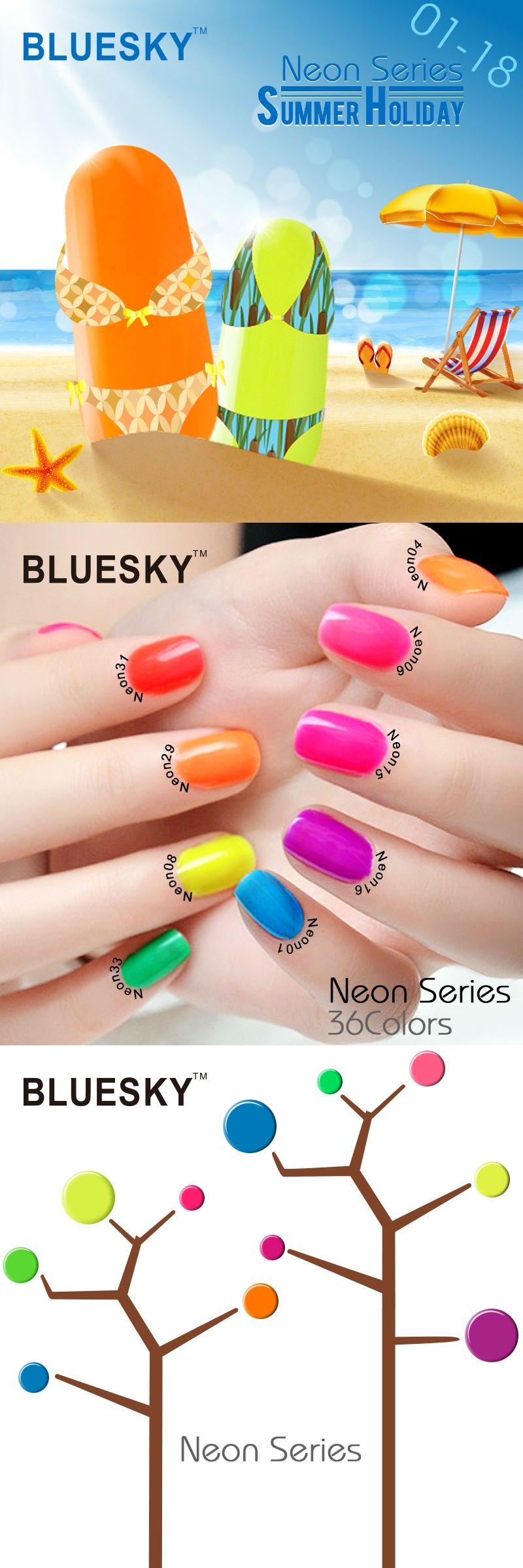 Neon Series 01-18 Summer Hot Sale Color Bluesky Beauty Supplies ...