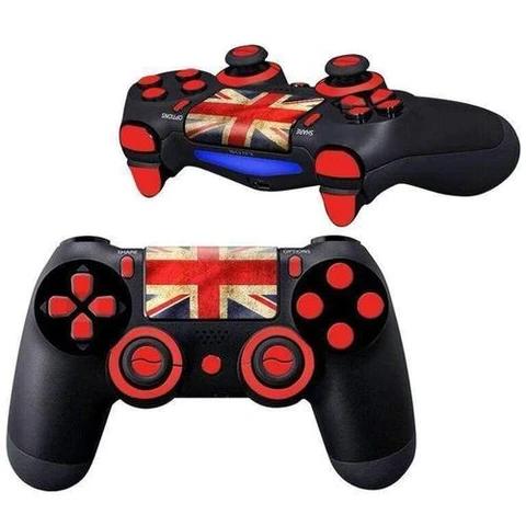 United Kingdom Flag Ps4 Controller Skin Ps4 Controller Skin Ps4 Controller Playstation