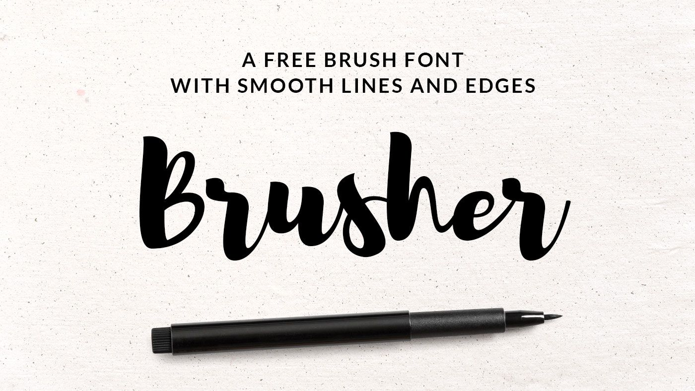 Top free brush fonts typography and retro font