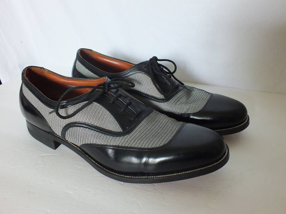 Vintage Florsheim 1930's Spectator Ventilated Mesh Oxford Dress Shoe Mens 10  C