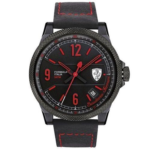 812309202d Relógio Scuderia Ferrari Masculino Couro Preto - 830271   RELÓGIOS K ...