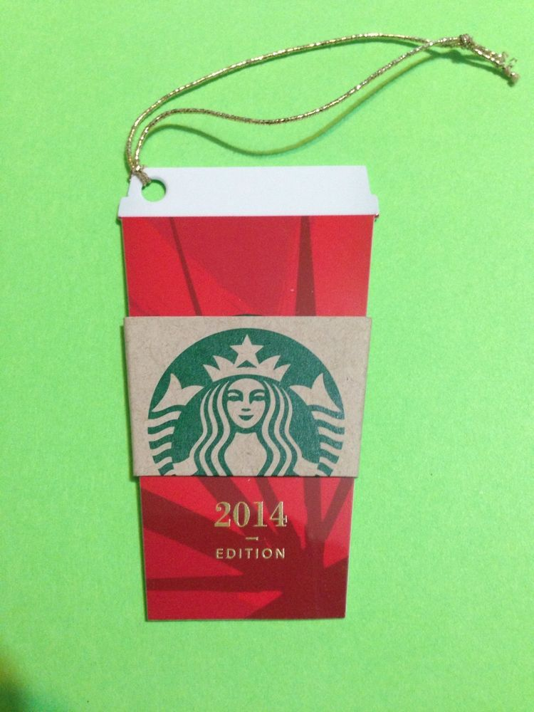 New starbucks gift card 2014 christmas red cup mini tag