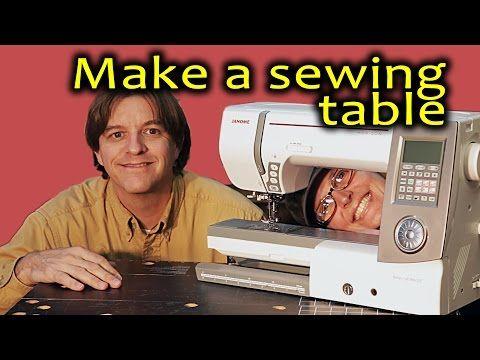Do it yourself flat bed sewing and quilting table diy youtube fai da te sewing diy - Tavoli per macchine da cucire ...
