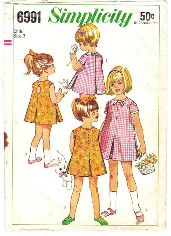 Simplicity 6991 Photocopy of Mod Vintage 60s by PatternPlaying
