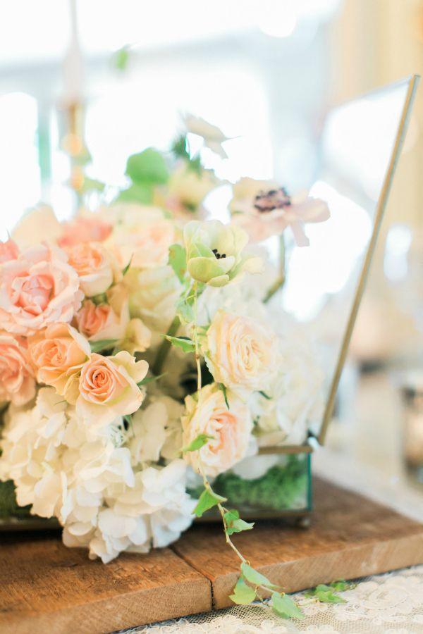 10 Beautiful Blush Wedding Details & Decor - Connecticut Wedding - Oh So Glam Blog